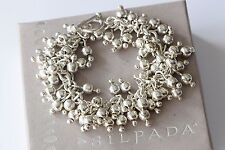 Silpada Cha-Cha Sterling Silver Ball Bead Toggle Clasp Bracelet B0919