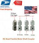 RC Boat Flexible Motor Shaft Coupler Motor Shaft Chuck (5mm, 4mm 3.17mm)