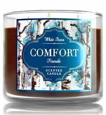 1 Bath & Body Works COMFORT FIRESIDE Large 3 Wick Candle 14.5 oz Big White Barn