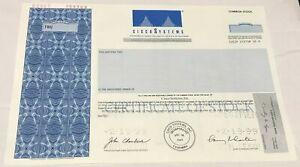 1999 CISCO SYSTEMS Inc. Stock Certificate SPECIMEN Odd Shares