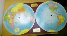 1937 Global World Map - Original in Excellent condition - Steamship + Air routes
