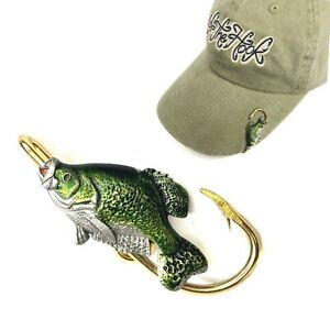 Crappie Hookit®️ By Off The Hook Jeweler©️ - Crappie fish hat hook .. hat clip