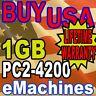 1GB 4200 eMachines W3609 W3611 W3619 W3623 Memory Ram