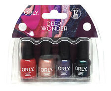 Orly Nail Lacquer - DEEP WONDER - MINI Pack of 4 Colors x 0.18oz/5.3ml
