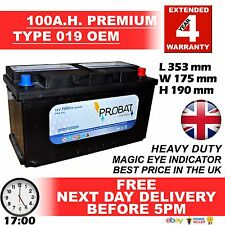 BMW 5 Series E60 E39 525D 530D 520 12V CAR BATTERY 100AH UK 019 O.E.M. 24HR DEL*