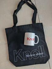 Knoll Canvas Designer Black Tote Bag VIP Architect Bag and Mug Gift Set RARE