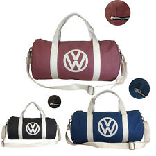 Volkswagen Premium Canvas Holdall Bag - 3 Colours Available Red Navy Brown VW