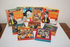 JOB LOT 6x SUPER & STD 8MM CINE FILM REELS - Cartoons, Silent Movie stars etc