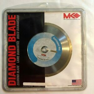"""MK 8"""" inch Diamond Continuous Rim Wet Blade for Tile Marble Ceramic MK-415 NEW"""