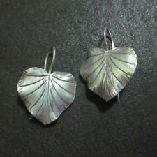 Orecchini d'argento Hill Tribe Fine Sterling Silver Earring Lucky Leaf Nature