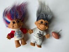 Lot of 2 RUSS Troll Dolls - 18704 RUSSTROLL FOR PRESIDENT & PROPERTY OF RAIDERS