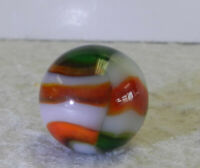 #12691m Vintage Peltier Glass NLR Christmas Tree Marble .61 Inches *Mint*