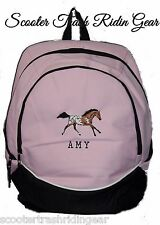 APPALOOSA Horse PINK Backpack Book Bag PERSONALIZED POA monogrammed school NEW