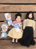 Vintage Small Dolls Lot Of 4