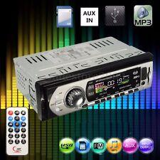 Car Auto Stereo Audio DIN In-Dash Aux Input Receiver SD USB MP3 FM Radio Player