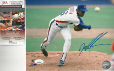 1986 New York  Mets Doc Gooden autographed 8x10 color action photo JSA Certified