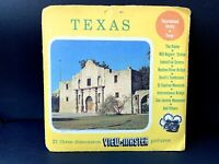 Vintage Viewmaster Texas Vacationland Series RARE HAND STAMP Packet A410 Sawyers