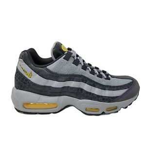 Nike Air Max 95 SE Reflective Sneakers Noir Grey Yellow BQ6523-001 Mens  11.5
