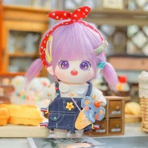 Original Hand-Made Short Plush 20cm Purple Hair Doll Cute Toys