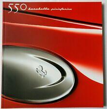 2000 Ferrari 550 Barchetta Maranello Original Sales Brochure Type F133 1616/00