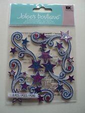 EK SUCCESS JOLEE'S BOUTIQUE Star Flourishes Dimensional Stickers Entièrement neuf sous emballage * Look *