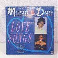 Michael Jackson & Diana Ross Love Songs Vinyl Record LP Album