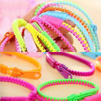 1Pc Two-Color Zipper Bracelet Fidget Products Kids Sensory Toy Stress Relie Toys