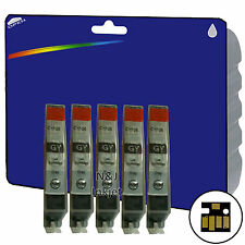 5 encres C526 Gris pour Canon IP4950 IX6250 MG5200 mg6150 mg6250 MX885 non-oem
