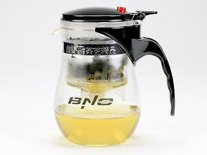 Tee Kanne Teekanne Teebereiter Tea Glas mit Siebeinsatz 1,0L