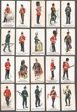 1897 Gallaher's Types of British Army Green Back Tobacco Cards Lot of 23
