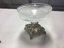 New listing Holiday Imports Silver Compote Candy Nut Dish Japan