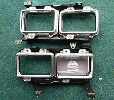 RARE HELLA QUAD LIGHT FRAMES & MOUNTINGS AUDI UR QUATTRO TURBO COUPE/COUPE B2