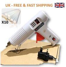 100W Professional Industrial Hot Melt Glue Gun 10X Glue Sticks UK plug ON/OF