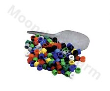 100 Bird Split Rings Multi Colours Canary /Finch etc 3mm With Applicator