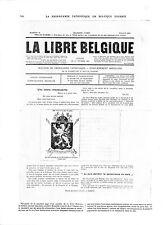 WWI Bulletin Propagande Patriotique La Libre Belgique Juillet  A ILLUSTRATION