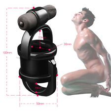 10 Speed Vibrating Cock CBT_Ring Ball Harness Divider Penis Erection Sex_Orgasm