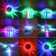 8W Colorful Auto Rotating 48PCS RGB LED Bulb Stage Wall Light Party Lamp Disco