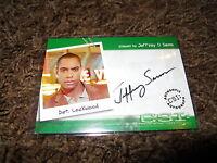 CSI Autograph Trading Card Very Limited Jeffrey Sams as Det.Lockwood CSI-A12