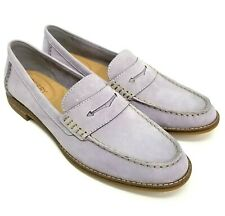 New Sperry Size 9 Seaport Suede Leather Penny Loafer Lavender Gray Womens
