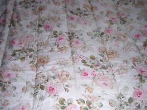 001A Lauren Ralph Lauren 100% COTTON Comforter WOODSTOCK F/Q Shabby Chic ROSES