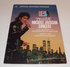 Private MICHAEL JACKSON Concert OFFICIAL SOUVENIR PROGRAM March 3, 1988