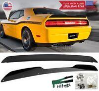 For 08-14 Dodge Challenger Rear Decklid Wing Spoiler w/ Wickerbill + Rivnut Gun