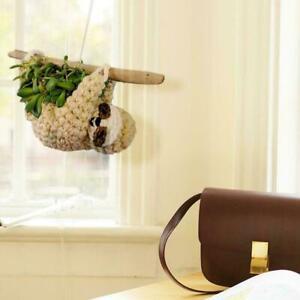 Hanging Sloth Shaped Planter Pot Garden Flower/Succulent Decor Home Pot D6T4