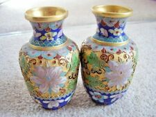 Chinese Cloisonne vase,set of 2,hand painted