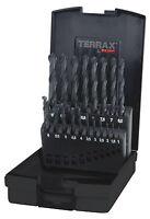 Terrax by RUKO 19pcs. Twist Drill Bit Set HSS-R, 1-10.0mm in increments of 0.5mm