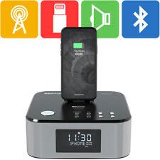 Azatom Radio Alarm Clock Docking Speaker Bluetooth iPhone iPad HomeHub Black (R)