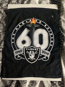NFL Oakland Raiders 60th Anniversary Rare Towel MNF 1st Game 9-9-19