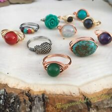 Handmade Wire Wrapped Rings. 4 ring grab bag