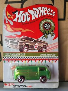 HOTWHEELS 2002 RLC  - VW BEACH BOMB TOO HOLIDAY CAR [GREEN] CAR NEAT MINT VHTF