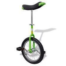"""vidaXL Monociclo ruota regolabile verde acciaio e plastica uniciclo 16"""" / 40,7cm"""